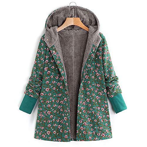 Cardigan Lâche Un Vert Coton Manches Dans Manteau En Amuster Capuche Long Impression À Longues Femme D'hiver qnZwFYU5