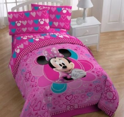 Disney Minnie Mouse Bow-tique Twin Sheet Set
