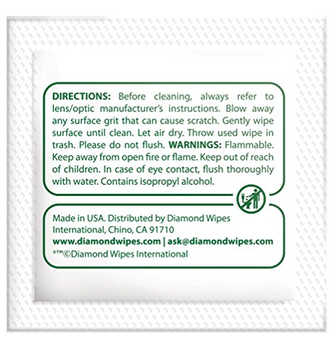 Pre-moistened Lens and Glass Cleaning Wipes: for Glasses, Camera, Cell Phone, Smartphone, and Tablet – Safe for AR lenses, Quick Drying, Streak Free, Disposable - Individually Wrapped - 200 Pack by Diamond Wipes (Image #4)