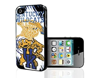 University of Kentucky Wildcats Blue, White with Golden Yellow College Basketball Sports Hard Snap on Phone Case (iPhone 4/4s)
