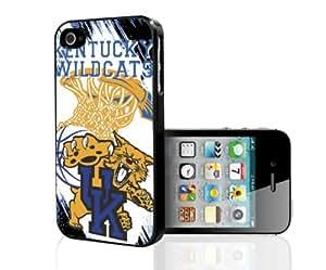 University of Kentucky Wildcats Blue, White with Golden Yellow College Basketball Sports Hard Snap on Phone Case (iPhone 4/4s) wangjiang maoyi
