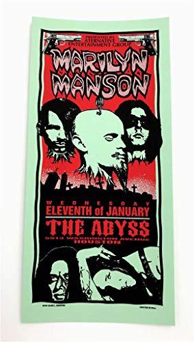 Marilyn Manson The Abyss Rock Concert Silkscreen Handbill Poster Mark ()