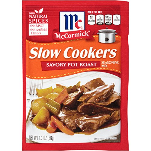 McCormick Slow Cookers Savory Pot Roast Seasoning Mix, 1.3 oz (Best Beef Chuck Roast)