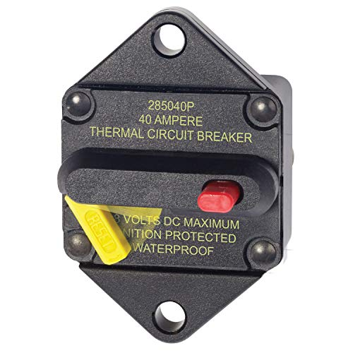 Blue Sea Systems 150 Amp Circuit Breaker Panel Mount 285 Series 7089 185 Series Thermal Circuit Breaker