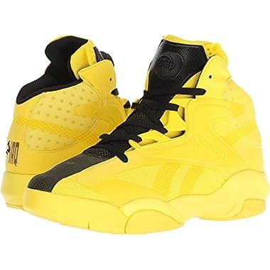 04171d4ad7c1 Reebok Shaq Attaq Modern Men s Basketball Shoes Yellow Spark Black bd4602  (9.5 D(