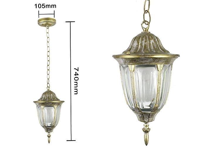 Vetrineinrete lanterna da giardino e antica lampada a parete
