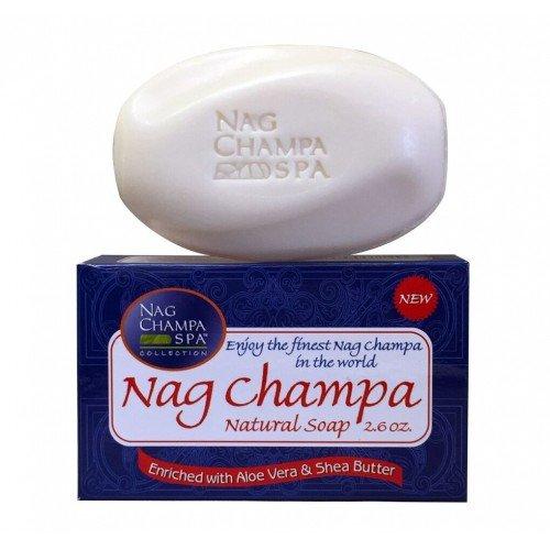 - NAG CHAMPA NATURAL SOAP- 6 Bars- 2.6 Oz. (75 Gms) Each