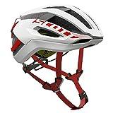 Scott Centric PLUS Bike Helmet – White/Red Medium For Sale