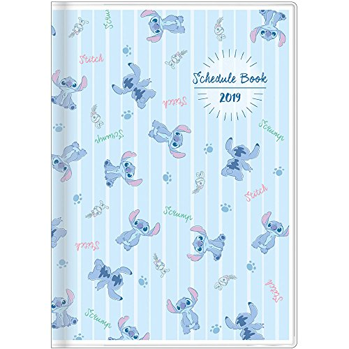 Star Stationery Disney Stitch Schedule Planner Diary 2019 B6 Monthly Light Blue S2946327 2018 October Start