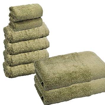 Atrivm Toallas hogar 100% algodón, más Suaves y absorbentes, esponjosas, te secan y se secan más rápidamente. Mejor relación Calidad-Precio (4 Toallas de ...