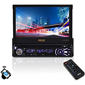 51jts2Dm93L._SL500_AC_SS350_ amazon com pyle single din in dash car stereo head unit w 7inch pyle plts77du wiring harness at cos-gaming.co