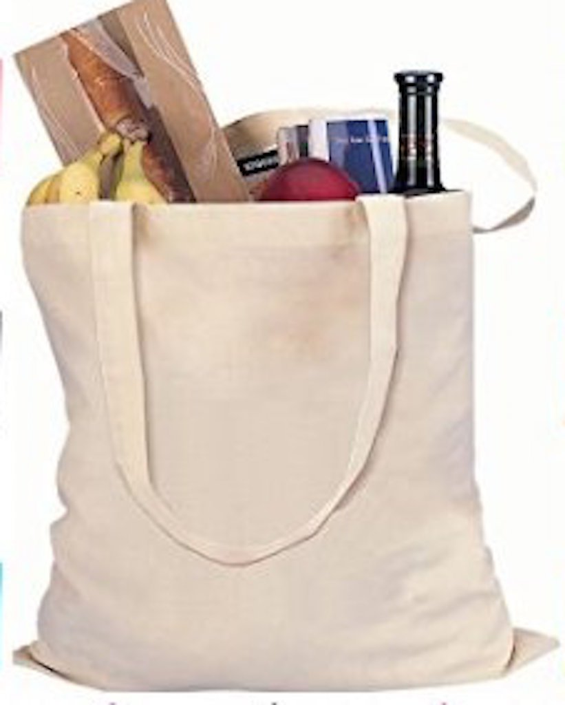 Economy Canvas Tote Bags Natural Color 15'' X 16'' (30) by Vermont