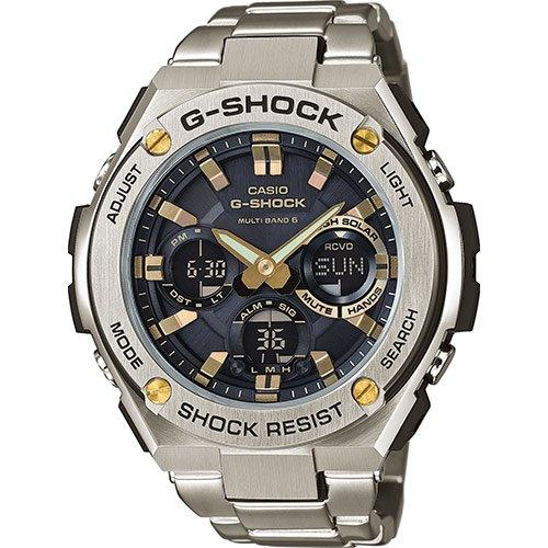 Casio Reloj Multiesfera para Hombre de Cuarzo con Correa en Acero Inoxidable GST-W110D-1A9ER: Amazon.es: Relojes