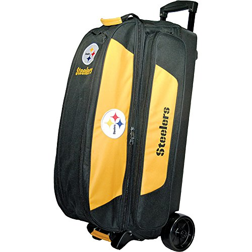 KR Strikeforce Bowling NFL Triple Bowling Ball Roller Bag (Pittsburgh Steelers) by