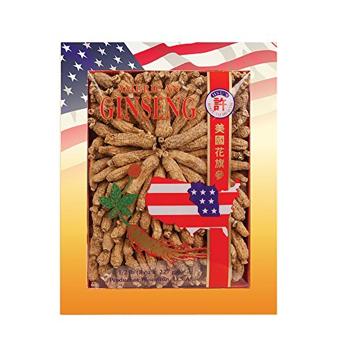 SKU #0135-8, Hsu's Ginseng Half Short Small #2 Cultivated American Ginseng Roots (8 oz = 227 gm / box), with one free single American ginseng tea bag, 135-8, 135.8