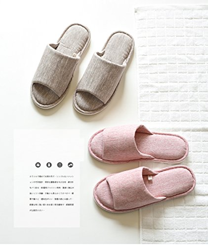 Asifn Indoor Home Slippers Memory Foam Men Women Cotton Cozy Massage Flax House Casual House (7.5 US Women/6 US Men, Pink) by Asifn (Image #2)