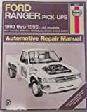 img - for Ford Ranger & Mazada B-Series Pick-Ups Automotove Repair Manual (Hayne's Automotive Repair Manual) book / textbook / text book