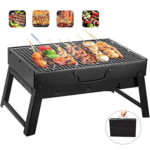 Barbecue Charcoal Grill Stainless Steel Folding Portable BBQ Tool Kits for Outdoor Cooking Camping Hiking Picnic