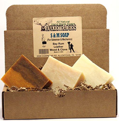 S  M Soap (For Salesmen  Mechanics) Assortment Pack, All Natural, Handmade (3 Bars)