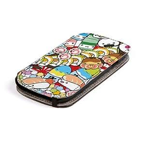 Diabloskinz L0079-0011-0001 Asian Explosion - Funda para Samsung Galaxy S3, piel, diseño de piezas de sushi, multicolor