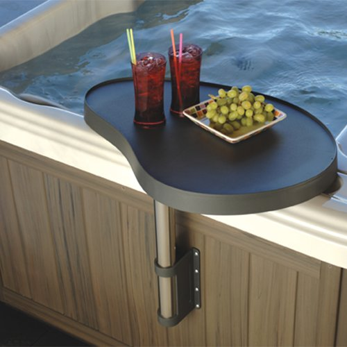 Hot tub attachable drink tray table