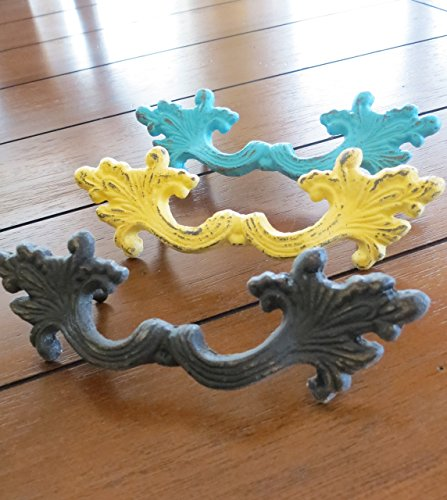 Cast Iron Large Pull Choose from 40+ Colors Cottage Shabby Chic Dresser Cabinet Drawer Desk Handle Sold per Unit French Provincial Drawer Pulls