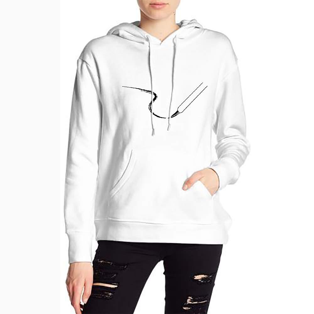 JiJingHeWang Woman Paint Streak Long Sleeve Funny Drawstring Sweater