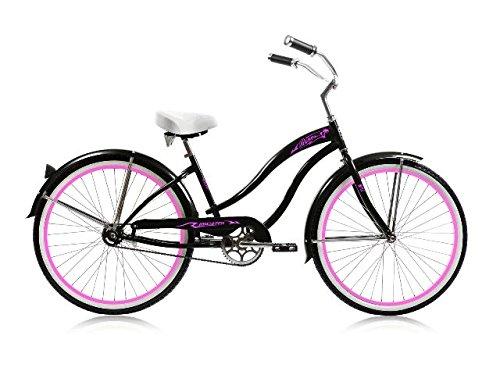 26 in. Beach Cruiser in Black by Micargi Bicycles
