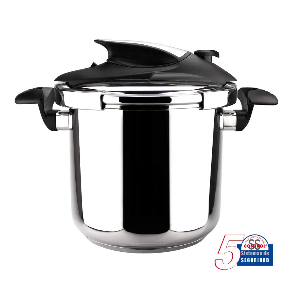 MAGEFESA NOVA PRO Olla a presión súper rápida de fácil uso, acero inoxidable 18/10, apta para todo tipo de cocinas, incluido inducción.