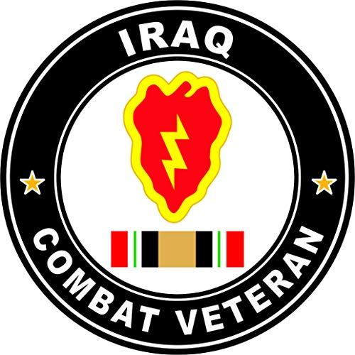 Military Vet Shop Magnet US Army 25th Infantry Division Iraq Combat Veteran Operation Iraqi Freedom OIF Vinyl Magnet Car Fridge Locker Metal Decal 3.8