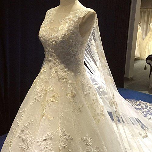 WLM sottile coda High europea sezione da sognante corte one end sposa Qi atmosfera matrimonio sposa spalla abito lunga principessa rrZ4gqw