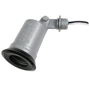 Taymac LT100S Standard Outdoor Flood Light Lampholder, Gray ...