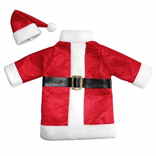 GOOTRADES Christmas Santa Suit Hat Wine Bottle Wrap Cover Topper Pouch Bag