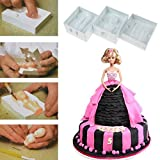 SDFC New 3D Family People Body Figure Cake Mold Fondant Modelling Sugarcraft Decor Mould Set 11-314