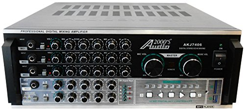 Audio2000'S AKJ7406 Professional Mixing Amplifier with Digital Echo & Key Control, 1000W by Audio 2000S