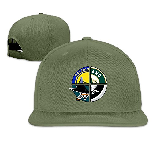 Price comparison product image LINNA Custom Unisex-Adult Oakland Sport Logo Mixed Casual Baseball CapHat ForestGreen