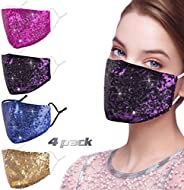 Luxury Sequin Face Mask with Adjustable Ear Loops for Protection