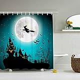 "ZBLX Vintage Halloween Shower Curtain - Waterproof Mildew Resistant Fabric Polyester 100% Shower Curtain.60 X 72"""