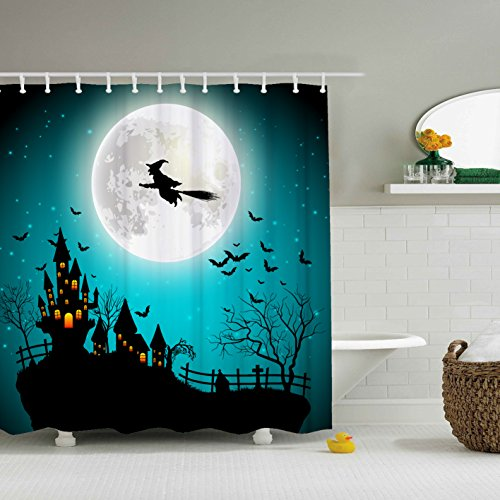ZBLX Vintage Halloween Shower Curtain - Waterproof Resistant Fabric Polyester 100% Shower Curtain.60 X 72