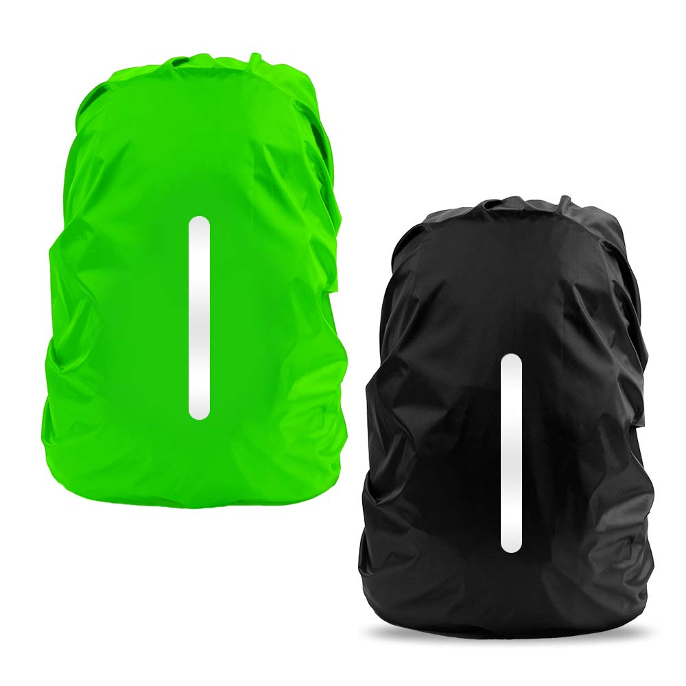 Waterproof Rain Cover for Backpack, LAMA 2 Pack Bag Rain Cover Reflective Rucksack Rain Cover for Anti-dust/Anti-Theft/Bicycling/Hiking/Camping/Traveling/Outdoor Activities S 25L-29L Black