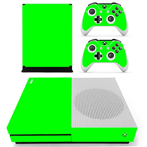 Chickwin Xbox One S Skin Vinyl Decal Full Body Cover Sticker For Microsoft Xbox One S Console and 2 Controller Skins (Only Green)