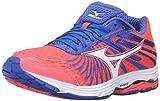 Mizuno Women's Wave Sayonara 4-W Running Shoe, Fiery Coral-Dazzling Blue, 7 B US