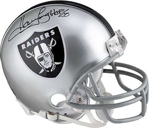 Howie Long Autograph - Howie Long Oakland Raiders Autographed Riddell Mini Helmet with HOF 00 Inscription - Fanatics Authentic Certified