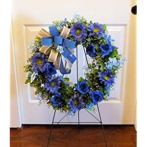 Summer Cemetery Wreath, Father's Day Cemetery Wreath, Summer Grave Wreath 10