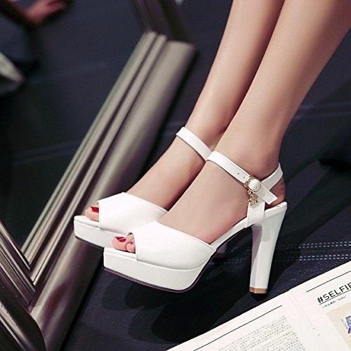 Chaussures Avec Fille Eu39 Talons Taïwan Imperméable Hauts Du Sandales Corrosif Non Des 39 Épais Poisson 6 Femme uk6 Shoeshaoge À Bouche IBpwYp