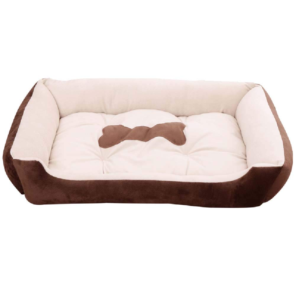 Brown 70x52x15cm Brown 70x52x15cm Dog bed Cat Houses Removable Small & Large for Crate, Non-slip Pet House for Medium Dogs (color   BROWN, Size   70x52x15cm)
