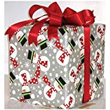 Polka Snowmen 24in.x417ft. Gift Wrap Counter Roll - 1 Roll