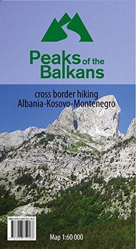 Peaks of the Balkans 1:60000: cross border hiking Albania - Kosovo - Montenegro