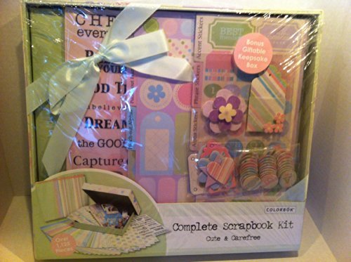 COMPLETE SCRAPBOOK KIT Cute & Carefree (Kit Scrapbook Colorbok)