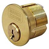 Marks #2122 Polished Brass US3 Solid 15/16'' Mortise Cylinder